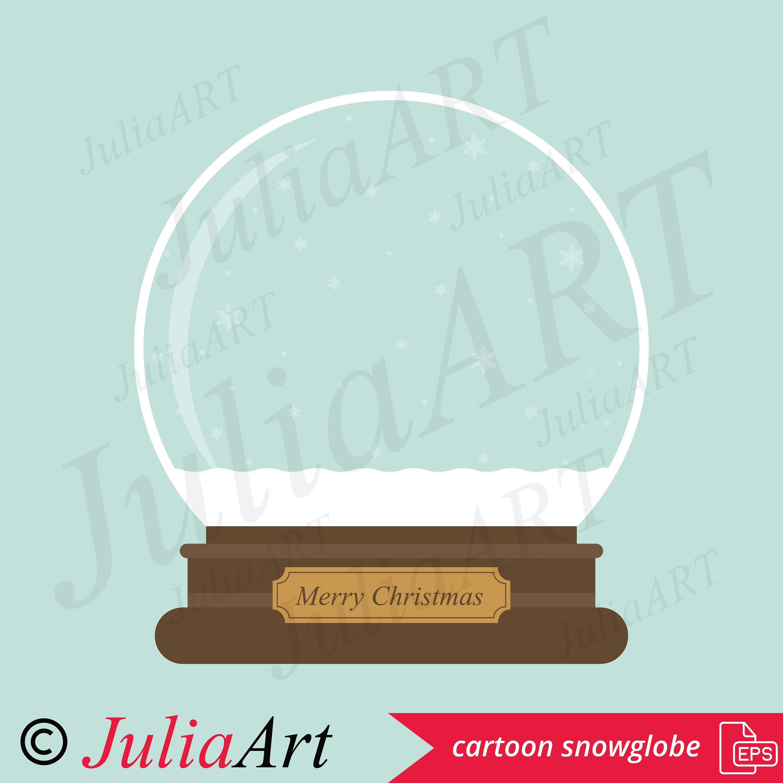 Cartoon Weihnachten Schneekugel | Etsy