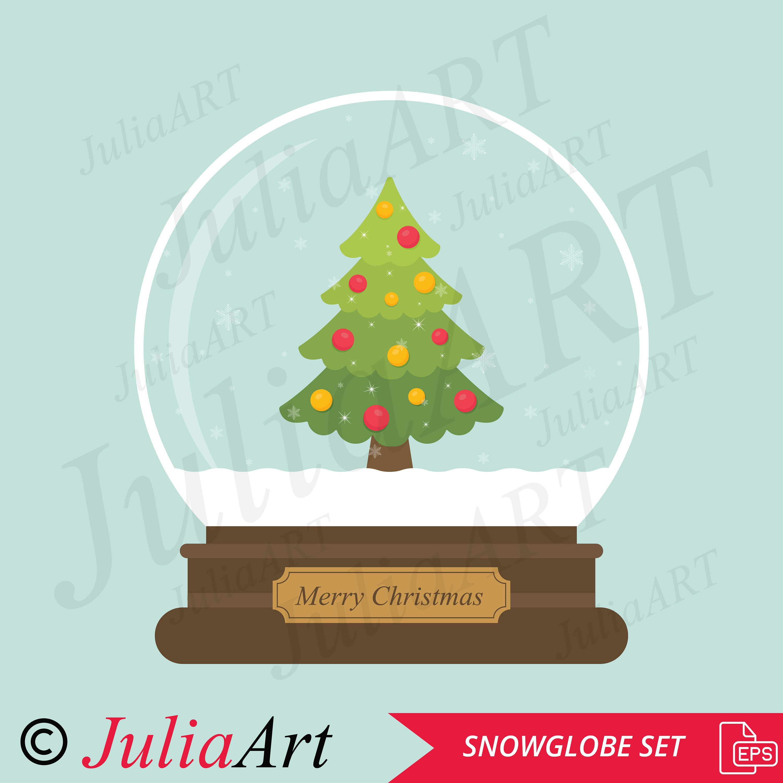 Weihnachten-Schneekugel set   Etsy