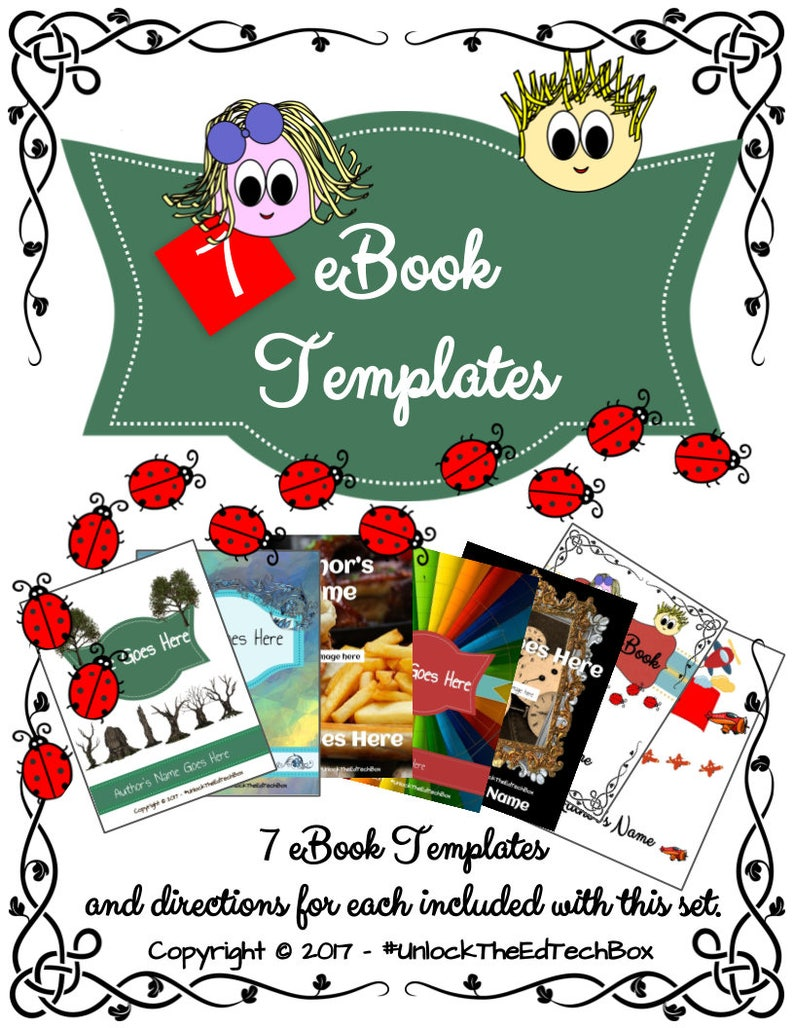 Digital - 7 eBook Templates designed for Google Slides or PowerPoint with  Detailed Directions on How to Use the Templates