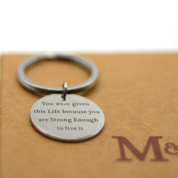 Stainless Steel Key Chain I Have You in My Heart KCS16 God Has You in His Hand