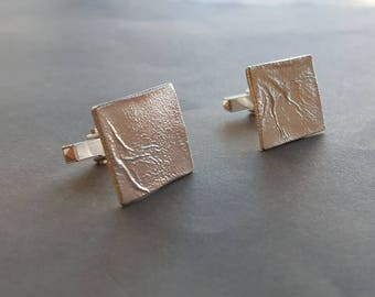 Cuff links square man jewelry silver wedding groom gift for men birthday gift