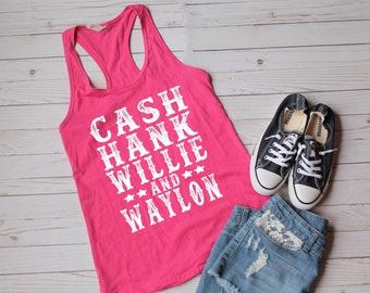 daef3347e3227 Cash Hank Willie   Waylon tank