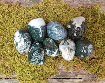 Large Moss Agate tumblestones