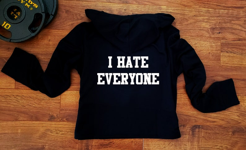 Pullover I Hate Everyone Hoodie image 0