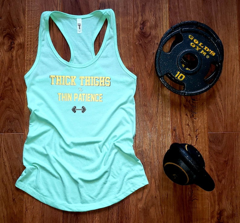 Mint Thick Thighs x Thin Patience Racerback Tank image 0