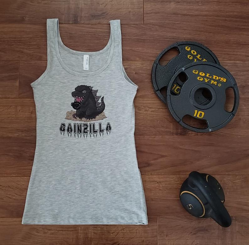 Gray Gainzilla Tank image 0