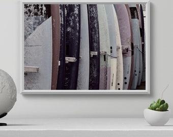 Surfboard Wall Art, Blush And Gray Print, Modern Surf Poster, Pink  Surfboards, Printable Decor, Beach Art, Surfing Decor, Summer Art Print