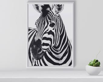 Zebra Print, Nursery Animal Print, Nursery Safari Print, Nursery Wall Art, Zebra  Wall Art, Zebra Decor, Safari Decor, Gift Idea, Printable