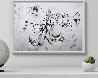 Watercolor Leopard Print Watercolor Wall Art Animal Print Nature Love Print Watercolor illustration Living room decor Printable art  sc 1 st  Etsy & Leopard wall art | Etsy