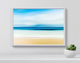 Beach Print, Ocean Poster, Tropical Beach, Sunny beach, Wall Art Tropical, Beach Art Print, Ocean print, Room Decor, Digital Download