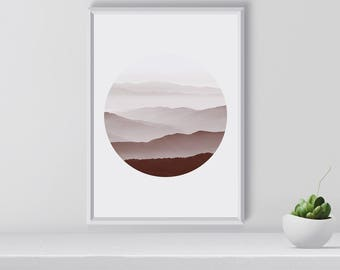 Nordic Mountain Art Print, Mountain Wall Art, Nature Photography, Mountains Poster, Scandinavian Art Print, Printable, Room Decor