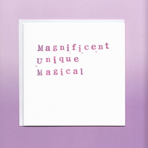 Magnificent Mum Card Mum Birthday Card Mothers Day Etsy
