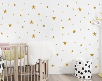 Nursery Stars Wall Decals / Nursery Wall Decal. Star Wall Decal. Star Wall Stickers. Wall Vinyl Sticker Nursery. Baby Room Decor Art F10