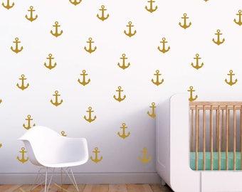 Nautical Anchor Wall Decal / Nursery Wall Decal. Nautical Nursery Wall Decal Stickers. Wall Vinyl Sticker Nursery Decals Baby Room Decor F15