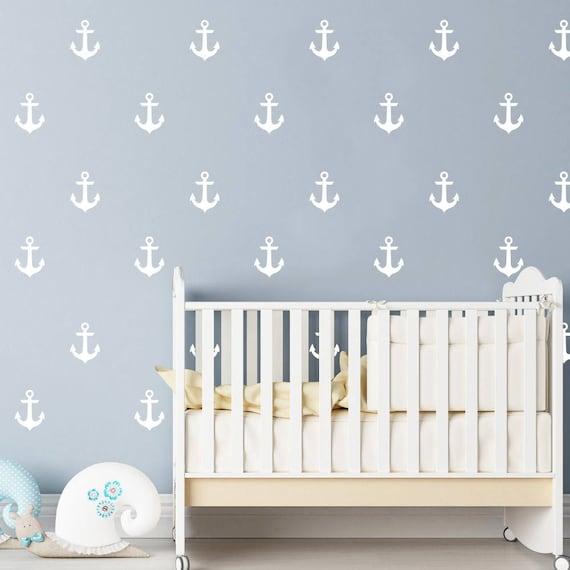 anchor wall decals nursery / nursery wall decal. nautical | etsy