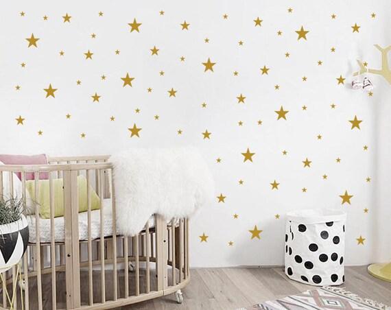 nursery stars wall decals / nursery wall decal. star wall | etsy
