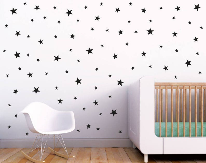 stars wall decals set / nursery wall decal. star wall decal. | etsy