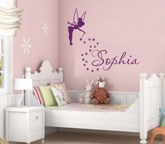 Wall Decal filles le nom de fée clochette. Magique petite princesse ...