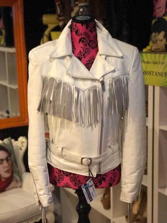 Vintage fringed leather jacket