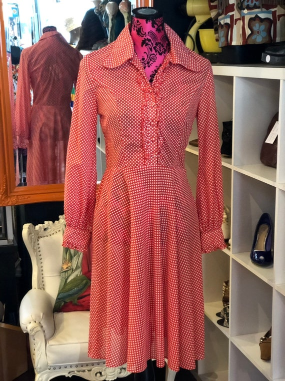 Vintage fifties polka dot dress