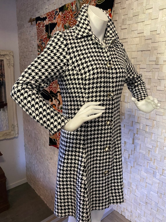 Vintage sixties Madmen houndstooth coat dress