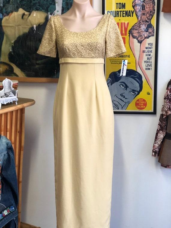Vintage sixties maxi Madmen dress