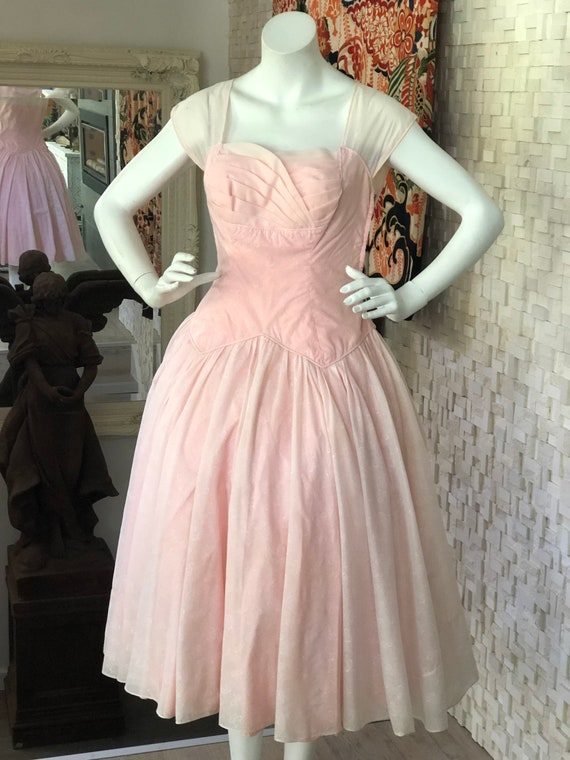 Vintage fifties prom dress