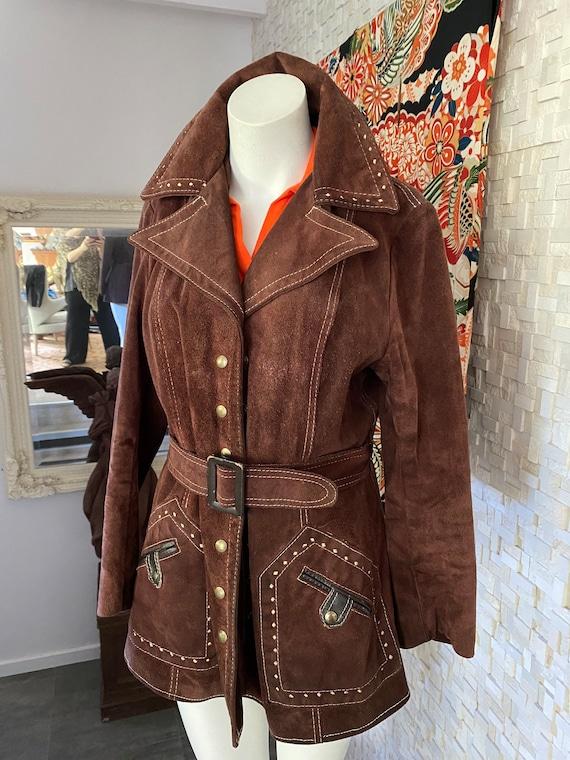 Vintage seventies suede Woodstock jacket