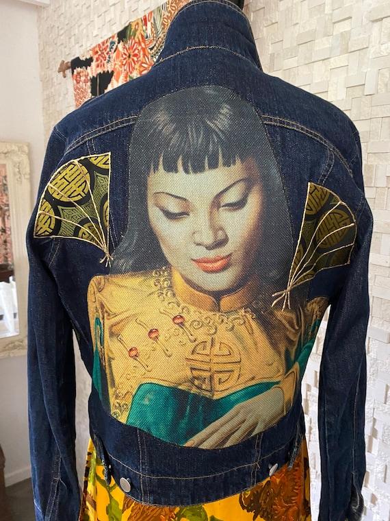 Vintage upcycled denim Tretchikof jacket