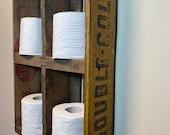 Antique Double Cola Tissue Paper Shelf