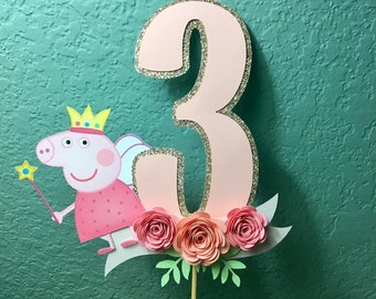 Peppa Pig Birthday Cake Topper, Cake Topper , Cake Decor