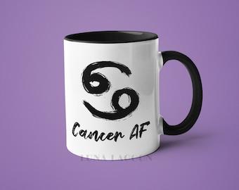 Cancer Zodiac Mug | Cancer Gifts, Horoscope Mug, Cancer Star Sign, Funny Coffee Mug, Cancer AF, Cancer Constellation Mug, Cancer Sign Cup