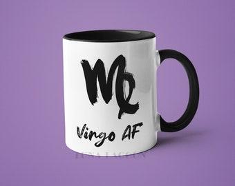 Virgo Zodiac Mug | Virgo Gifts, Horoscope Mug, Virgo Star Sign, Funny Coffee Mug, Virgo AF, Virgo Constellation Mug, Virgo Sign Cup
