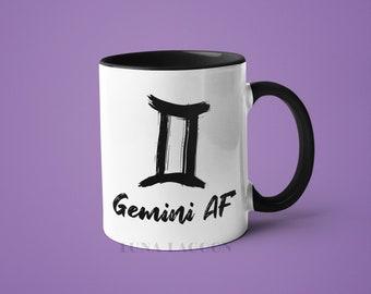 Gemini Zodiac Mug | Gemini Gifts, Horoscope Mug, Gemini Star Sign, Funny Coffee Mug, Gemini AF, Gemini Constellation Mug, Gemini Sign Cup