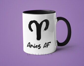 Aires Zodiac Mug | Aires Gifts, Horoscope Mug, Aires Star Sign, Funny Coffee Mug, Aires AF, Aires Constellation Mug, Aires Sign Cup