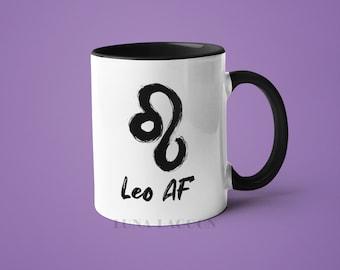 Leo Zodiac Mug | Leo Gifts, Horoscope Mug, Leo Star Sign, Funny Coffee Mug, Leo AF, Leo Constellation Mug, Leo Sign Cup, Zodiac Birthday
