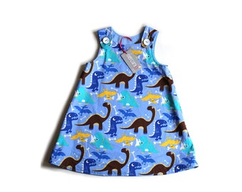 JURASSIC FUN! Toddler dress, made to order, sizes 0-3 months up to age 6