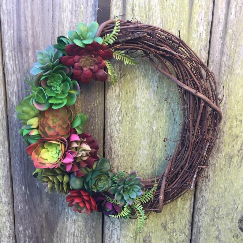 year round wreath wreath for front door door decor Succulent wreath wreath front door wreath Succulent door decor Succulent decor
