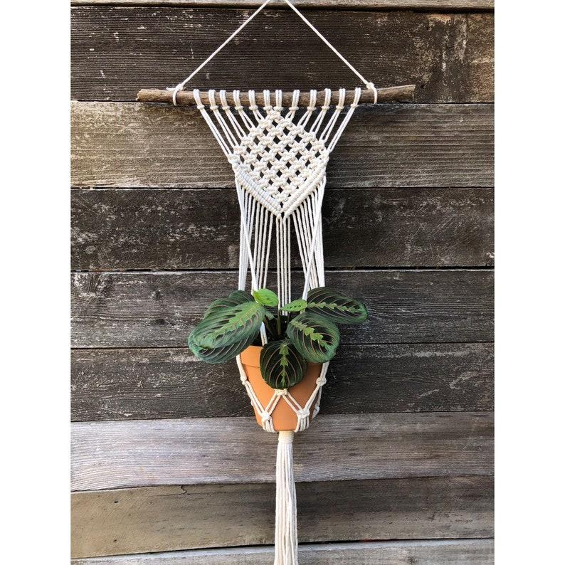 Wall Hanger Macrame Plant Handmade Boho Scandi Midcentury Houseplant Planter DIAMOND
