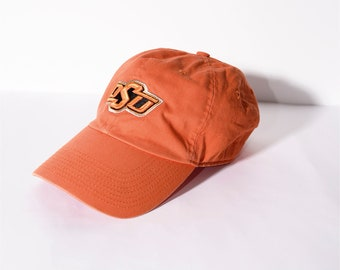 4ba83fb8766b4 NIKE Oklahoma state adjustable orange color solid men s cap