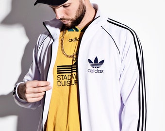 ca2ed13de8b1 ADIDAS Originals vintage white classic soft track top jacket