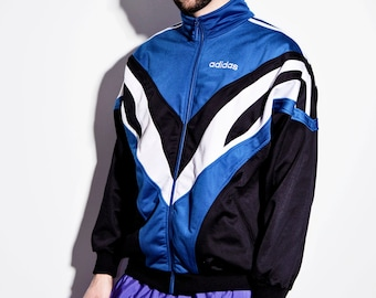 ef11ecc87219 Adidas Originals blue black sport jacket men