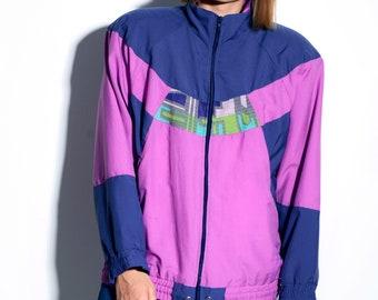 d83cb7dbca5 PUMA multi windbreaker rare jacket for women | Shoulder pad retro 80s  vintage full zip sport tracksuit top wind shell jacket | Size – Large