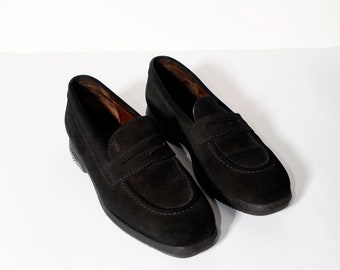 9b0abf50a54 Vintage casual black suede women s loafers