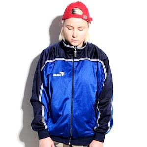 90s streetwear XXL Vintage 90\u2019s track jacket in blue for men Old School full zip tracksuit top sport jacket Size