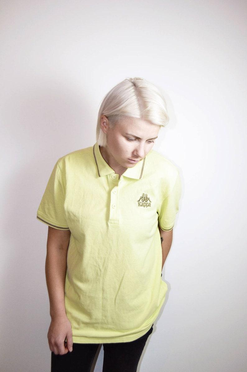 ce2e8f50ea2a9 KAPPA branded 90s polo shirt in yellow colour | Vintage unisex sport  t-shirt for men & women | Size - Medium (men's)