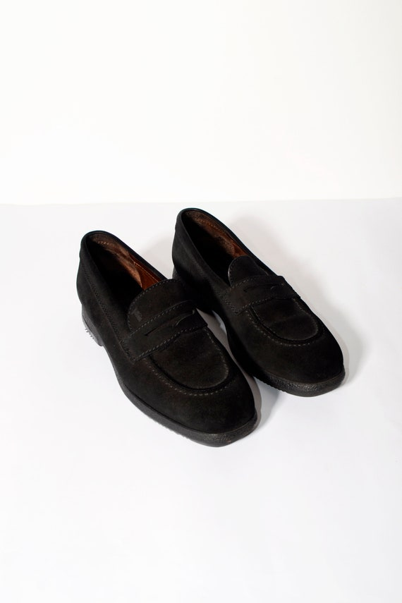leather black TOD'S suede Vintage in amp; outsole Handmade in rich suede loafers casual women's Italy moccasins qBxwRxP4A
