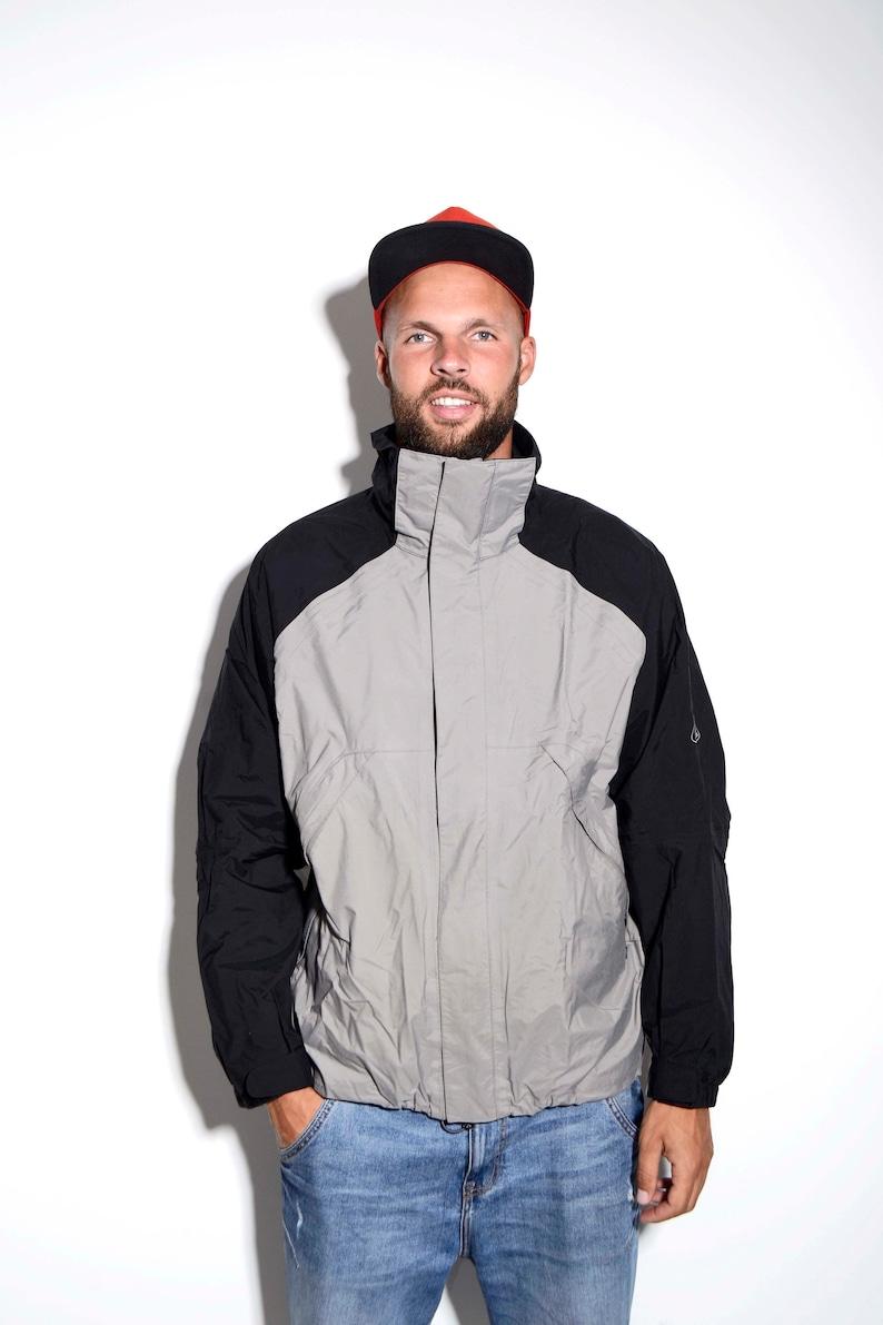 f2d4a2060 NIKE ACG snowboarding men's waterproof windbreaker shell winter ski jacket  | Black grey fall autumn shell rain coat | Size - Large