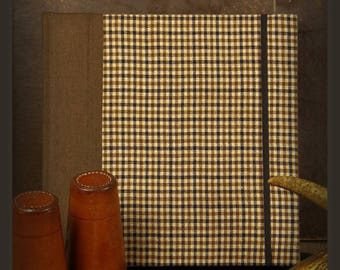 Notebook square very English tweed men's gift