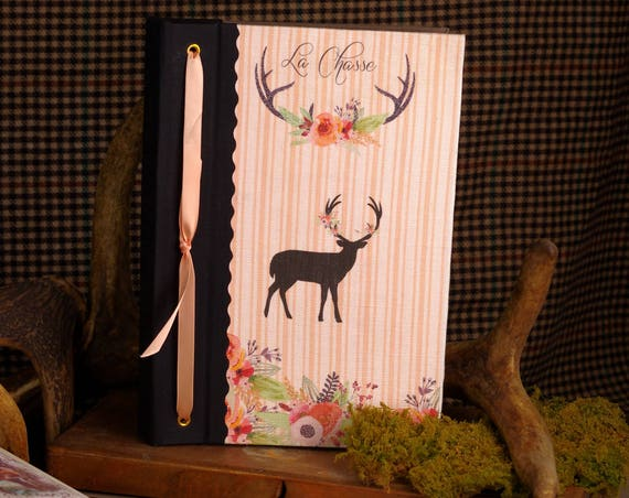 """Chasse Carnet de chasse """" Le cerf """"  chasseresse"""